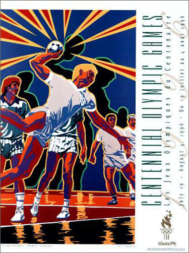 Atlanta 1996 Olympic Team Handball Official Event Poster - Fine Art Ltd.