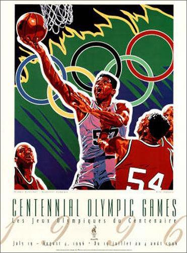 Atlanta 1996 Olympic Games Men's Basketball Official Event Poster - Fine Art Ltd.