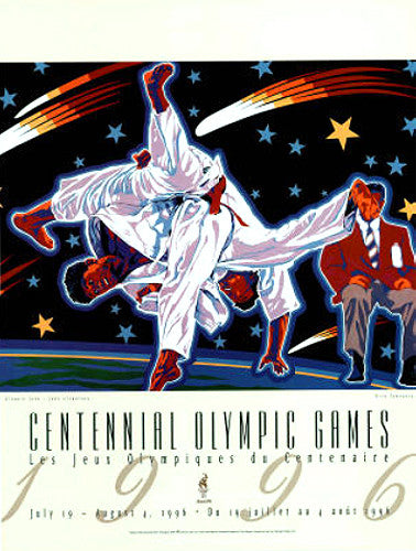 Atlanta 1996 Olympics Judo Official Event Poster - Fine Art Ltd.