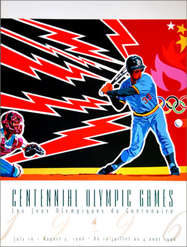Atlanta 1996 Olympics Baseball Official Event Poster - Fine Art Ltd.