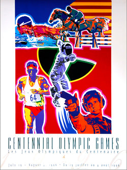 Atlanta 1996 Olympics Modern Pentathlon Official Event Poster - Fine Art Ltd.