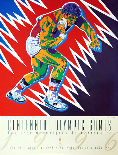 Atlanta 1996 Olympics Official Shot Put (Athletics) Event Poster - Fine Art Ltd.