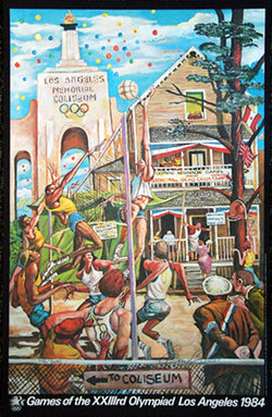 Olympic Neighborhood Games 1984 LA Olympics Poster by Ernie Barnes (LE /300)