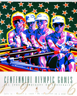 Atlanta 1996 Olympics ROWING Official Event Poster by Hiro Yamagata - Fine Art Ltd.