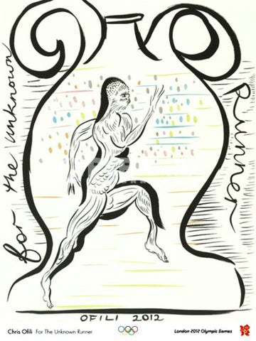 "London 2012 Olympics ""For the Unknown Runner"" by Chris Ofili Poster - Pyramid Int'l."