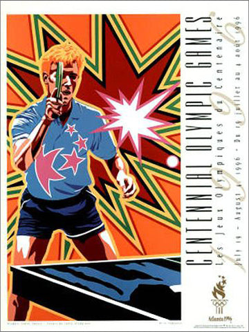 Atlanta 1996 Olympics Table Tennis Official Event Poster - Fine Art Ltd.