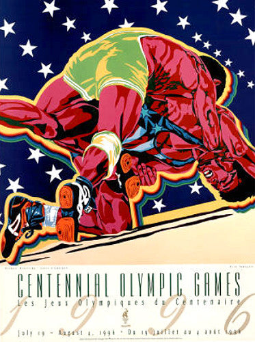 Atlanta 1996 Olympics Official Wrestling Event Poster - Fine Art Ltd.