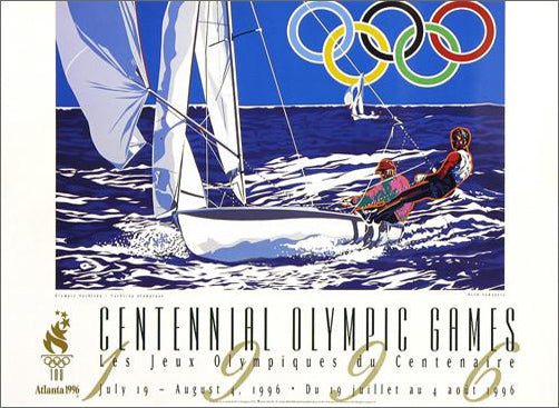 Atlanta 1996 Summer Olympics Yachting Official Event Poster by Yamagata - Fine Art Ltd.