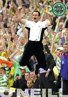 "Martin O'Neill ""Celebration"" Glasgow Celtic FC Poster - GB 2000"
