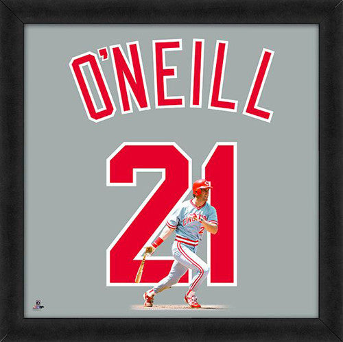 "Paul O'Neill ""Number 21"" Cincinnati Reds MLB FRAMED 20x20 UNIFRAME PRINT - Photofile"