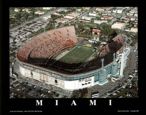 "Miami Hurricanes Football ""Orange Bowl Classic"" Poster - Aerial Views 2003"