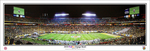 Iowa Hawkeyes Football Orange Bowl 2010 Victory Panoramic Poster Print - Everlasting Images