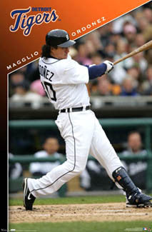 "Magglio Ordonez ""Slam!"" Detroit Tigers Poster - Costacos 2007"