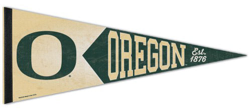 Oregon Ducks NCAA College Vault Collection 1950s-Style Premium Felt Collector's Pennant - Wincraft Inc.
