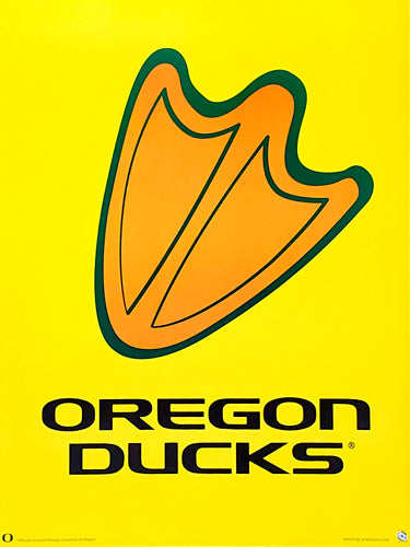"Oregon Ducks ""Footprint"" Alternate Team Logo Poster - Team Spirit"