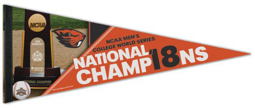 Oregon State Beavers 2018 NCAA College World Series Champions Premium Felt Collector's Pennant - Wincraft Inc.