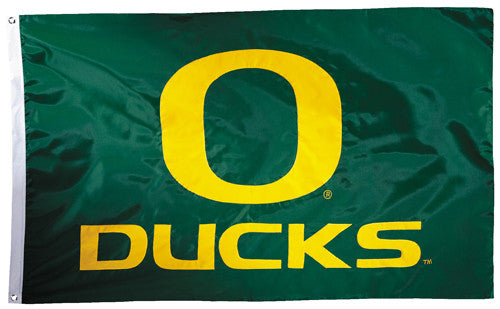 Oregon Ducks Official NCAA Premium Nylon Applique 3'x5' Flag - BSI Products Inc.