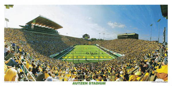 Oregon Ducks Football Autzen Stadium Panorama - Curtis Reed