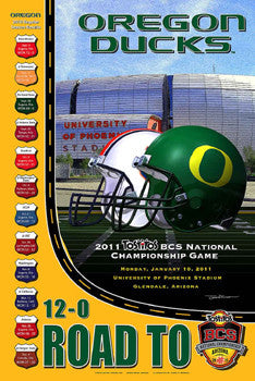 Oregon Ducks Road to the BCS Championship Game (2010) Poster - Action Images Inc.