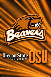 Oregon State Beavers Official Team Logo Poster - Costacos Sports