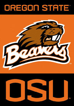 Oregon State Beavers Premium 28x40 Banner - BSI Products Inc.