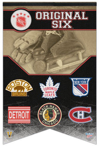 NHL Original Six Official Classic Team Logos Premium Felt Commemorative Banner - Wincraft