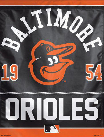 "Baltimore Orioles Baseball ""1954"" Premium Collector's Wall Banner - Wincraft Inc."