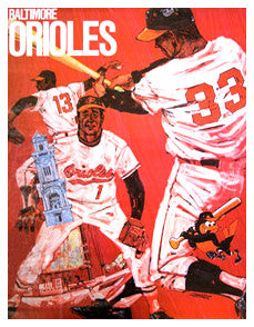 Baltimore Orioles Classic Theme Art Poster - ProMotions 1971