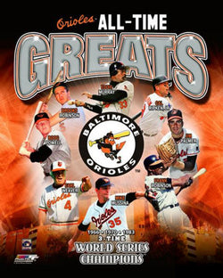 Baltimore Orioles All-Time Greats (8 Legends, 3 Championships) Premium Poster Print - Photofile