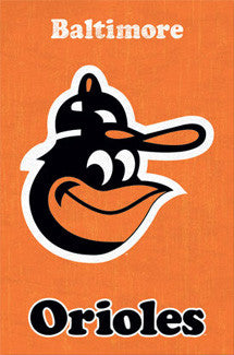 Baltimore Orioles Retro Logo (1975-76) Poster - Costacos Sports