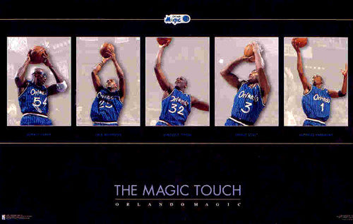 "Orlando Magic ""The Magic Touch"" (1996) Poster - Costacos Brothers"