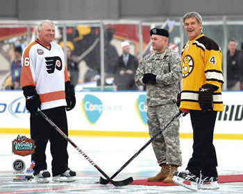 "Bobby Orr and Bobby Clarke ""Winter Classic Faceoff"" (Philadelphia 2010) Premium Poster Print - Photofile"