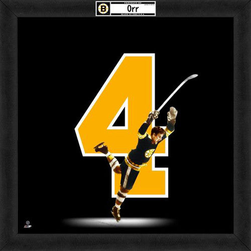 "Bobby Orr ""Number 4"" Boston Bruins FRAMED 20x20 UNIFRAME PRINT - Photofile"