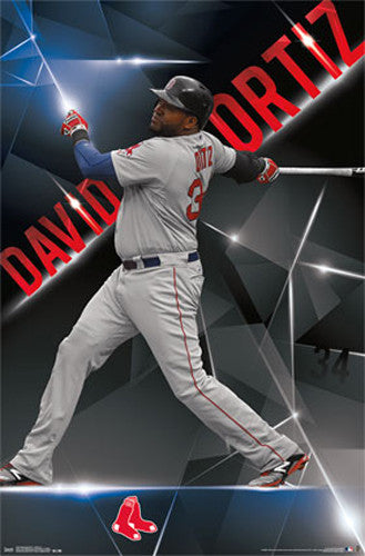 "David Ortiz ""Electric"" Boston Red Sox MLB Baseball Action Poster - Trends International 2015"