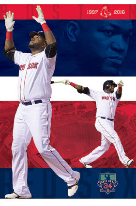 David Ortiz Big Papi Boston Red Sox Final Season Commemorative MLB Baseball Poster - Trends 2016