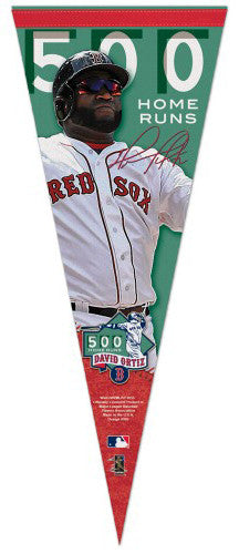 David Ortiz 500 Home Runs Boston Red Sox Commemorative Premium Felt Pennant - Wincraft