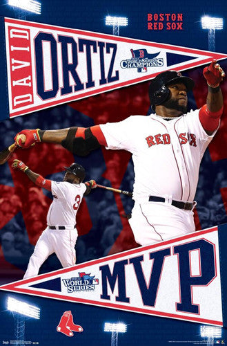 David Ortiz 2013 Boston Red Sox World Series MVP Commemorative Poster - Costacos Sports