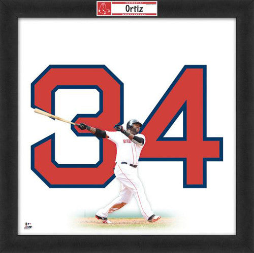 "David Ortiz ""Number 34"" Boston Red Sox FRAMED 20x20 UNIFRAME PRINT - Photofile"