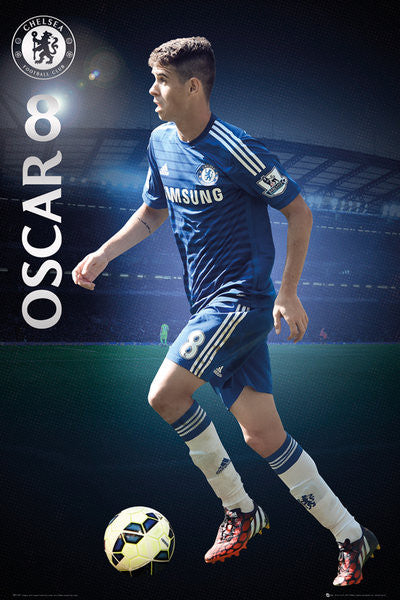"Oscar ""Superstar"" Chelsea FC Official EPL Action Poster - GB Eye (UK)"