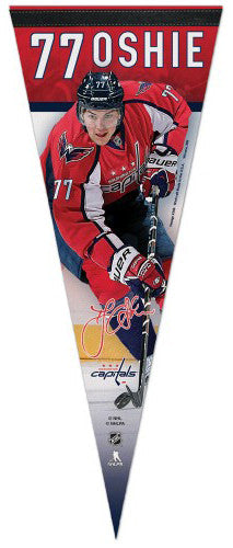 "T.J. Oshie ""Signature Series"" Washington Capitals Official NHL Premium Felt Pennant - Wincraft Inc."