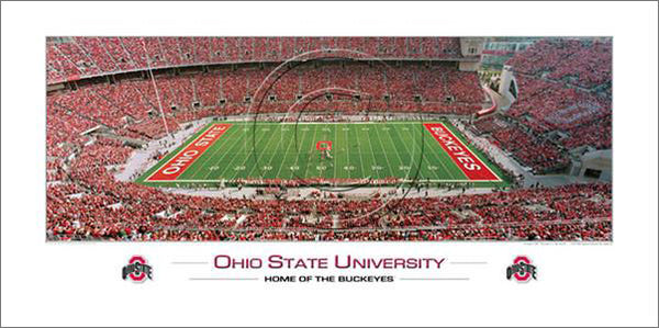 "Ohio State Football ""Home of the Buckeyes"" Ohio Stadium Panoramic Poster - Rick Anderson"