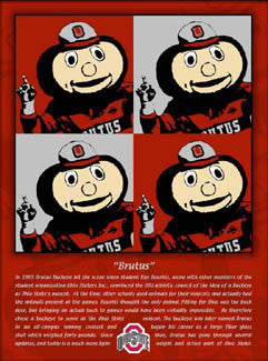 The History of Brutus (Ohio State Buckeyes) Poster - My Team Prints