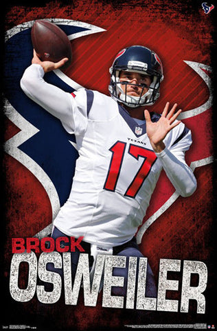 "Brock Osweiler ""Gunslinger"" Houston Texans QB NFL Action Wall Poster - Trends International 2016"