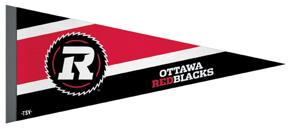 Ottawa Redblacks CFL Football Team Premium Felt Pennant - The Sports Vault Canada
