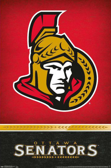 Ottawa Senators Official NHL Hockey Logo Team Poster - Trends International 2019