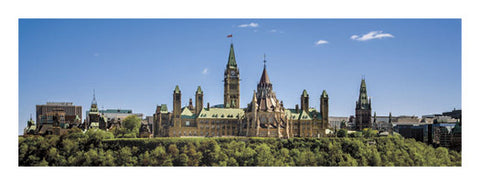 "Ottawa, Ontario, Canada ""Parliament Hill River View"" Panoramic Poster Print - Canadian Art Prints"