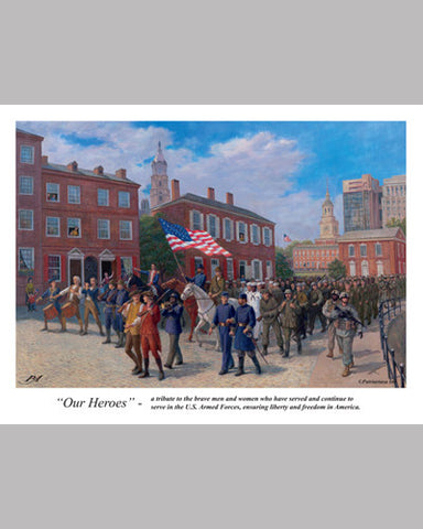 "American Military ""Our Heroes"" (A Tribute to the US Armed Forces) - Patriart USA"