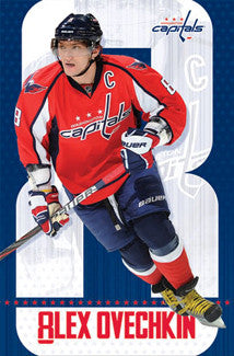 "Alex Ovechkin ""Action 8"" Washington Capitals Poster - Costacos Sports"