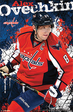 "Alex Ovechkin ""Superstar"" Washington Capitals NHL Poster - Costacos 2013"