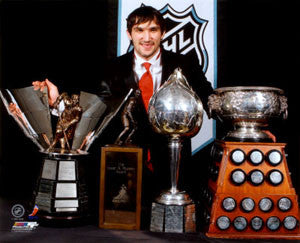 "Alex Ovechkin ""Four Trophies 2008"" Washington Capitals Premium Poster Print - Photofile 16x20"